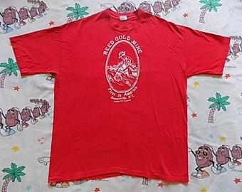 Vintage 80's Reed Gold Mine T shirt, size Large super soft souvenir North Carolina