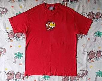 Vintage It's Not Easy Being Cheesy Chester Cheetah T shirt, size Large Cheetos junk food promo