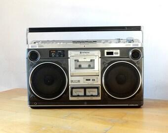 Boombox, Hitachi TRK 8180E, Old Radio, Transistor Radio, Old Electronic Radio, Radio Tuner, Portable Radio, Cassette Player, Tape Player,