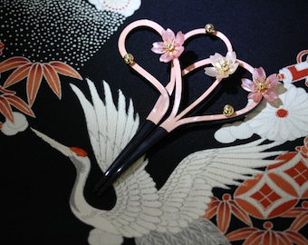 VAULT SPECIAL Exquisite Vintage Kanzashi, Cherry Blossom Hair Ornament, from Japan