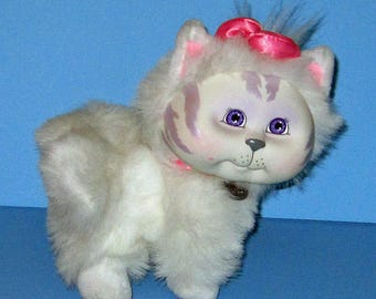 Cabbage Patch Kids, Adopt and Luv, Mattel White Cat,  Vintage 1980s, Original Box  Included, Rare Hard to Find