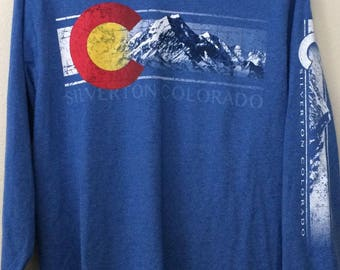 Vintage Colorado Mountains Long Sleeve Super Soft t shirt