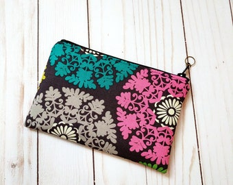 Multi Color Medallion Small Zipper Pouch