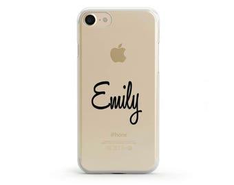 Personalised Clear iPhone 7 Case, Custom Name iPhone 6 Case, Customised iPhone 6s Case, Custom iPhone 5 SE Case, Personalized Gift For Her