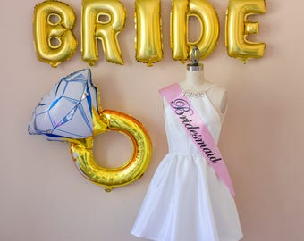 Bridesmaid Sash, Maid of Honor Sash, Mother of the Bride, Mother of the Groom, Bachelorette Party, Pink, Girl's Night Out,  Black, Hen Party