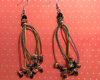 Colorful Rope Dangle Earrings