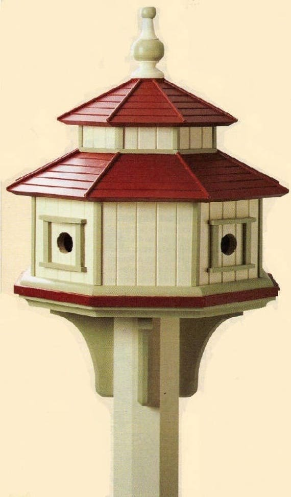 Octagonal bird house woodworking plans for Octagon shape house plans