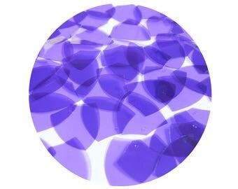 Shield Vinyl Shape Top Hole 1 inch Purple Go Go Transparent