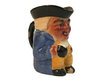 Genuine Staffordshire Hand Painted Shorter & Son Miniature Toby Jug