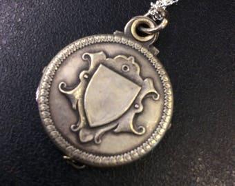 Silver sliding locket on chain