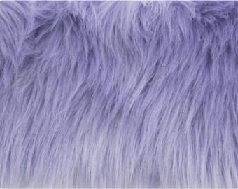 Lavender Luxury Shag Faux Fur Fabric