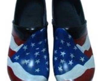 Custom painted American Sanita Clogs. Designed and personalized just for you!