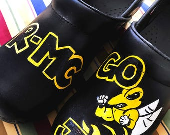 Custom painted Nursing/R-MC/Jackets Clogs. Designed and personalized just for you!