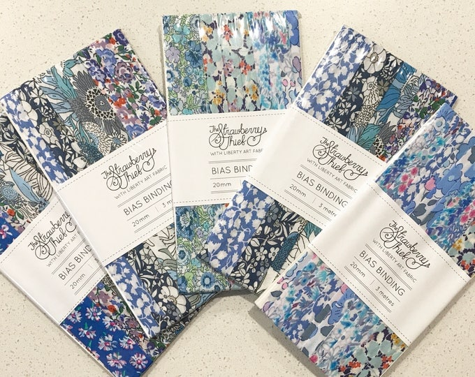 Limited Edition Liberty of London Scrappy Bias Binding Packs -  3m  continuous Bias - 20mm Liberty Bias