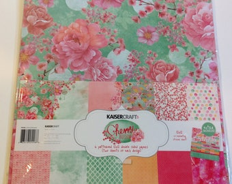 "KaiserCraft ""Cherry Blossom"" 12"" x 12"" Paper Kit"