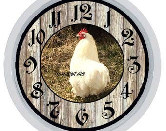 Chicken Hen Rooster Custom Made Wall Clock