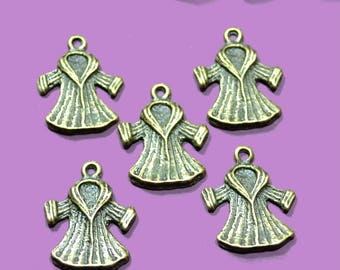 bronze colored charms 10 winter coats