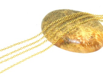 1 meter chain stainless steel gold ultra thin 1.5x1.2mm