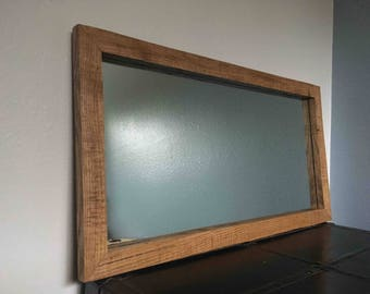 large reclaimed white oak mirror frame 20 x 38 outside dimensions handcrafted from reclaimed - Mirror Frame
