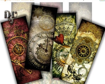 40% STEAMPUNK Bookmarks Digital Collage 8 bookmarks Victorian Style Collage Sheet, Instant Download Junk Journal Tags Scrapbook Digital S_00