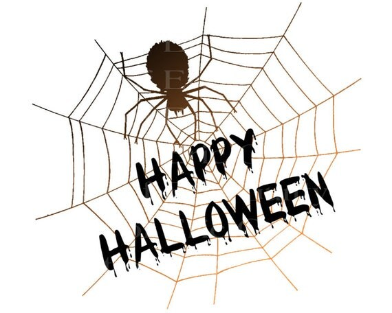 Happy Halloween Spider Web Birthday - Edible Cake and Cupcake Topper For Birthday's and Parties! - D22637