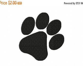 50% OFF - Paw Print Machine Embroidery Design Multiple Formats Available - Instant Download