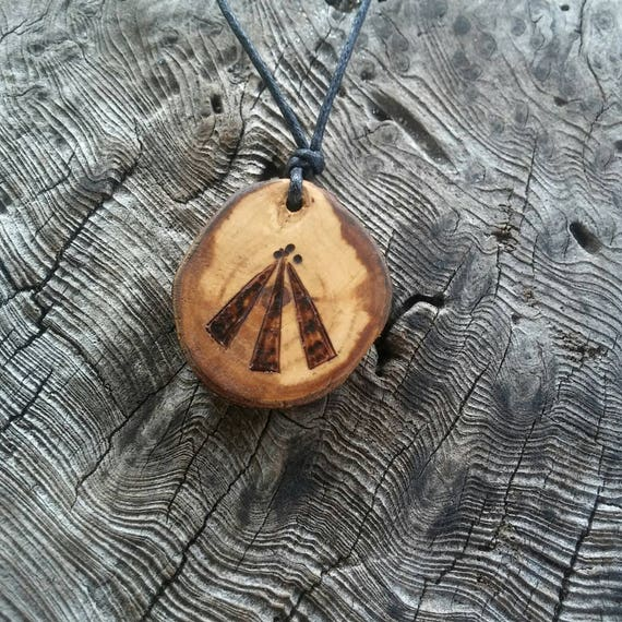 Apple Awen Pendant Necklace, Awen Pendant, Apple Pendant, Apple, Awen, Druid, Apple Necklace, Druid Jewelry, Talisman Necklace