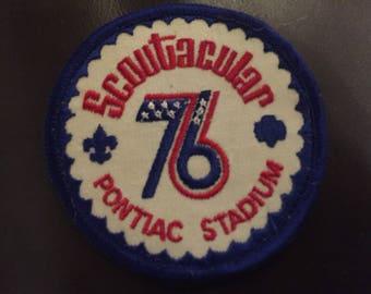 BSA 1976 Scoutacular Pontiac Stadium patch