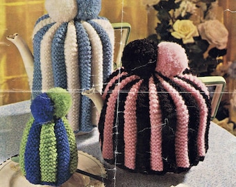 Tea Coffee Egg Cosy Cosies - Bellmans DK 1052 - Vintage Knitting Pattern