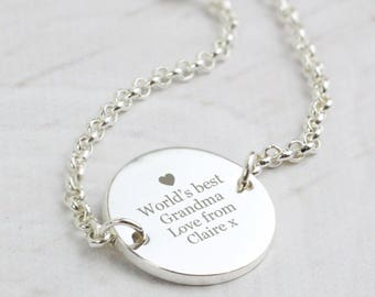 Personalised Any Message Silver Plated Necklace