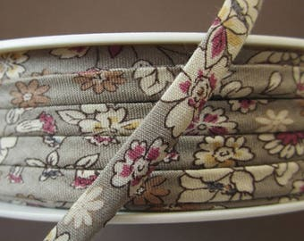 Spaghetti - meter - cord floral ruffled taupe