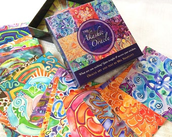 Akashic Oracle Deck ~ Visionary oracle cards with healing art and affirmations for conscious living <3
