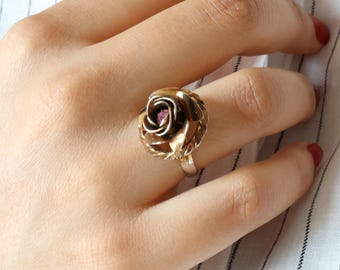 Antique Rose Ring - Size 7 Ring
