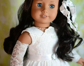 """Little Snowflake Dress, Outfit for 18"""" American Girl, Tonner My Imagination and Others"""