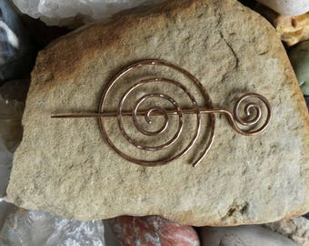 Hand Forged Bronze Shawl Pin
