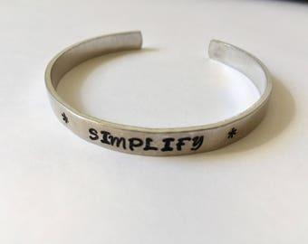 Aluminum Cuff Bracelet