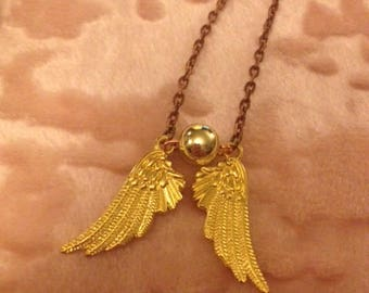 Flying Gold Ball Necklace - Who needs a Snitch?