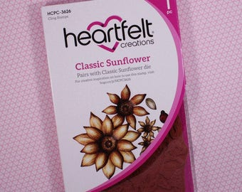 Heartfelt Creations Cling Rubber Stamp Set ~ Classic Sunflower, HCPC3626