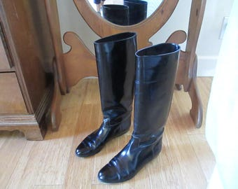 Boots, Paton Leather, Reenactments, Steampunk, Italy 8 1/2 - Riding Boots in Good Condition - Ranch Wear, Dress up, Professional, Theatre