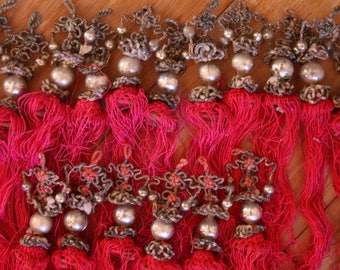 Chinese Silk Tassels - VIntage Tassels, Art Projects, Collectible, Lot of 16 - From Family Estate