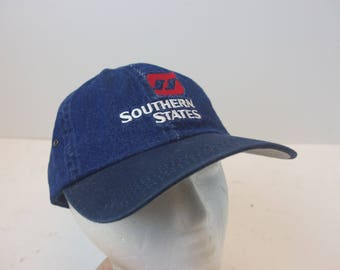Southerns States Denim hat cap low profile strap