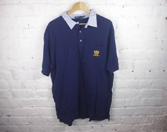 Polo Ralph Lauren shirt collar crest dad 90s
