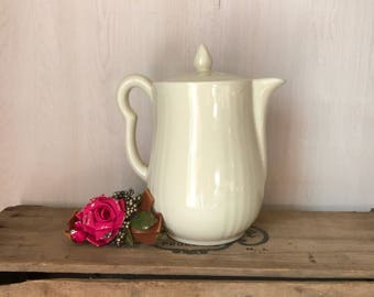 Hall Pottery Teapot * Ivory Ceramic Teapot * Hall Teapot * White Teapot * Hall Pottery * White Farmhouse