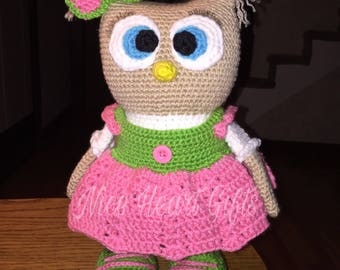 Ready to Ship Adorable Owl Doll Amigurumi