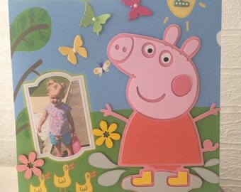 Peppa pig birthday card, peppa birthday card, peppa pig, granddaughter, daughter, sister, niece, cousin, 1st, 2nd, 3rd, 4th, 5th, 6th