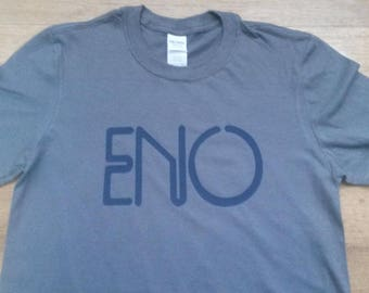 Brian Eno Roxy Music Tour Printed T-shirt Top. Vintage Style David Bowie Ambient Music Glam Rock Genesis Bryan Ferry