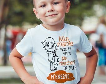 Personalized Kids T-shirt, Grandma, daughter...