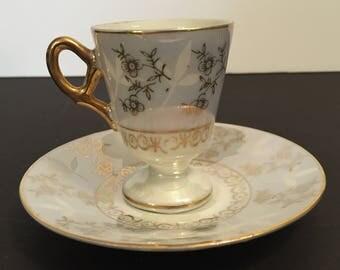 Vintage Lusterware Demitasse Cup and Saucer