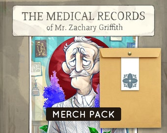 Merch pack: The Medical Records of Mr. Zachary Griffith
