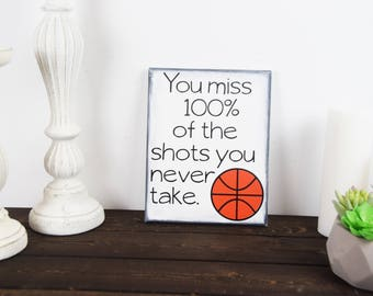 basketball quote - inspirational quote - motivational quote - sports quote - take the shot - sports art - gym quote - gym motivation